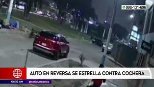 Conductor arranca en reversa y ocasiona fuerte accidente en el Callao