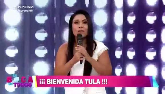 """Tula Rodríguez regresó a """"En Boca de Todos"""". (Foto: Captura de video)"""