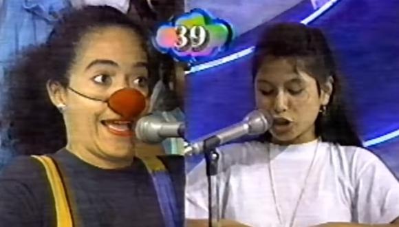"""Wendy Ramos cuando integraba el elenco teatral de """"Patacláun"""" en el programa """"Nubeluz"""". (Foto: Captura de pantalla/ YouTube)"""