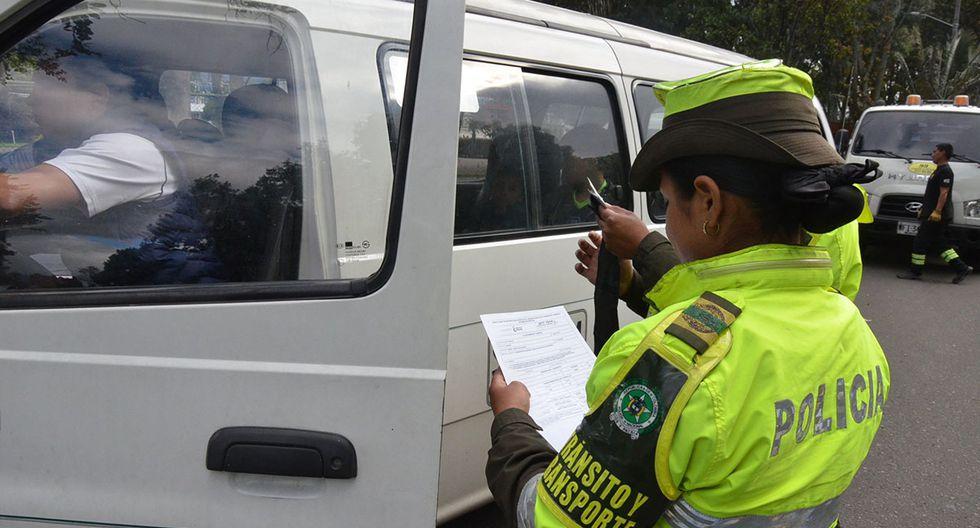 Los conductores que no cumplan con las disposiciones del Pico y Placa son multados. (Foto: Twitter @TransitoBta)