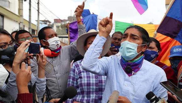 """Yaku Pérez acusa a Rafael Correa de """"meter la mano"""" en las elecciones en Ecuador. (EFE/ José Jácome)."""