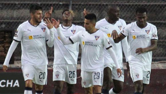 LDU venció 2-0 a Olmedo con tantos de Borja y Julio por la fecha 16° de la Serie A de Ecuador. (Foto: Twitter LDU)