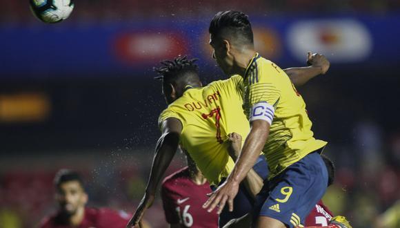 Con un gol de cabeza de Duván Zapata, Colombia venció 1-0 a Qatar, se clasificó a cuartos de final y agrandó su aspiración de favoritos en la Copa América 2019. (Foto: AFP)