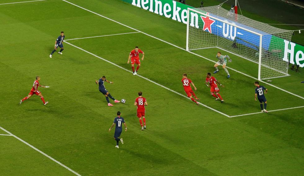 PSG vs. Bayern Múnich: Kylian Mbappé erró una ocasión inmejorable dentro del área