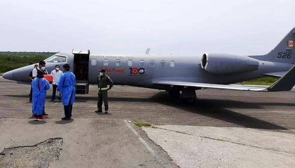 Avión de la FAP recogió muestras de posibles casos de COVID-19 tomadas en Cajamarca y Amazonas.