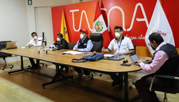 Autoridades regionales dieron detalles de la situación del primer caso de coronavirus confirmado en Tacna. (Foto; Gobierno Regional de Tacna)