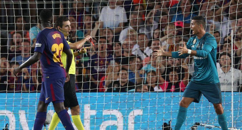 Cristiano Ronaldo fue expulsado ante Barcelona y reaccionó mal contra el árbitro. (Foto: Reuters)