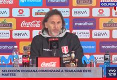 Ricardo Gareca explicó cómo procederá ante posible caso de COVID-19 en la selección peruana [VIDEO]