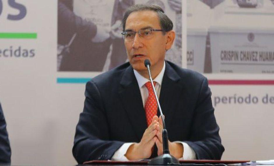 """""""Estoy seguro que cuando lancé esa propuesta el 28 de julio no me quedé huérfano, no me quedé solo"""", dijo Martín Vizcarra sobre el referéndum."""
