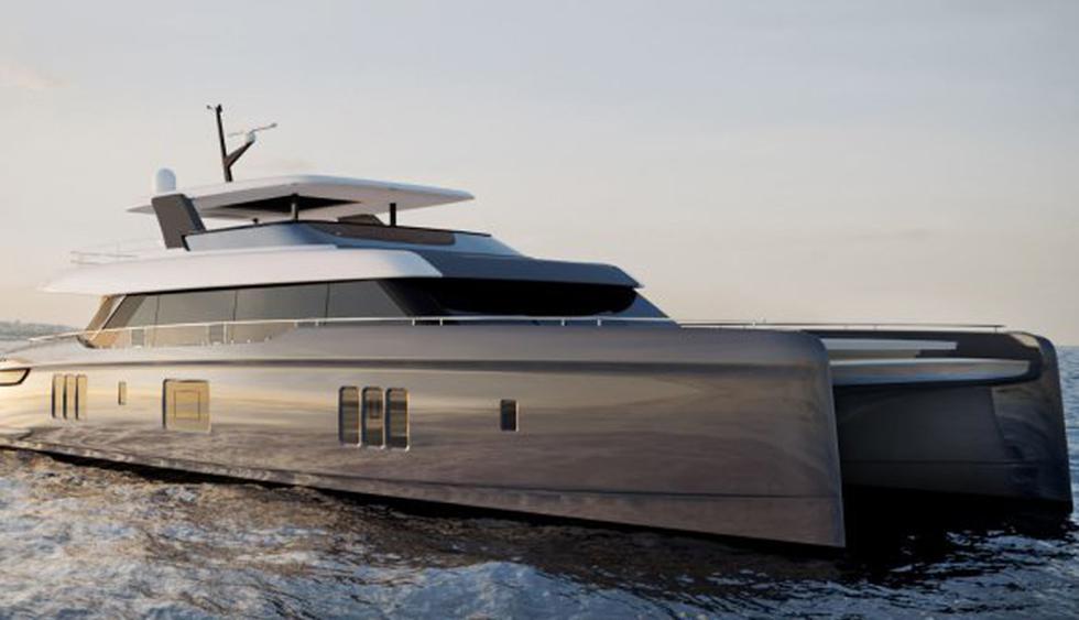 Así luce el exterior del catamarán 80 Sunreef Power, la nueva embarcación del tenista Rafa Nadal, que le entregarán el próximo año. (Foto: Sunreef Yachts)