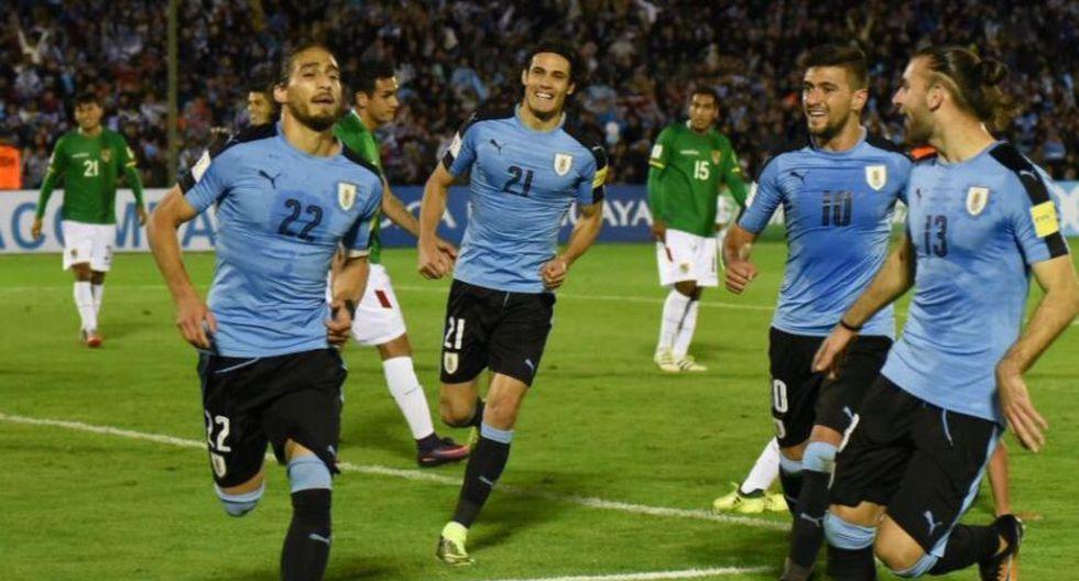 Uruguay ganó 4-2 a Bolivia y clasificó a Rusia 2018. (Foto: AFP)