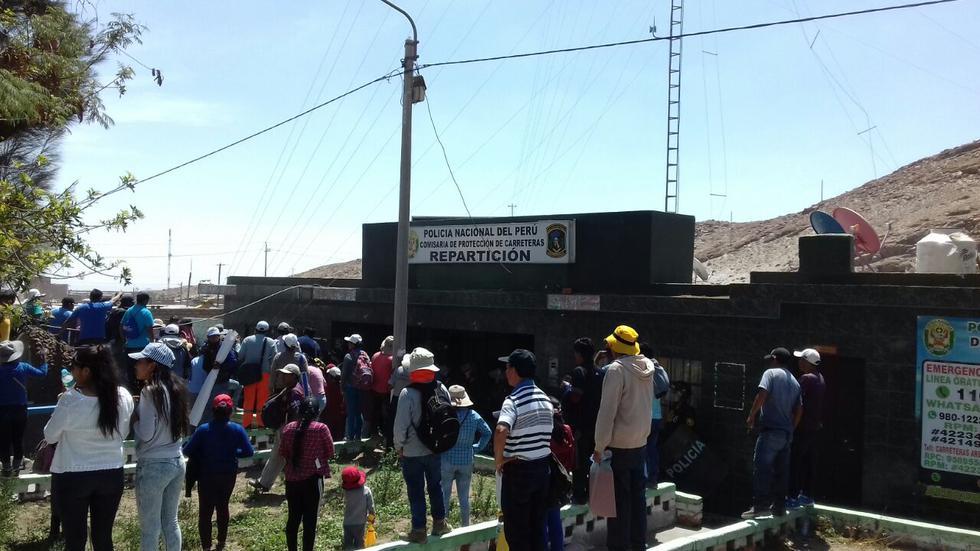 Desbloquean vía de ingreso a Arequipa