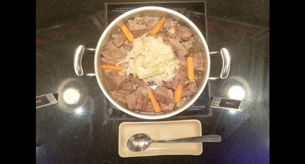 La carne Angus es el principal insumo que utiliza el chef Julio Ferradas y su equipo para cocinar su sancochado buffet.
