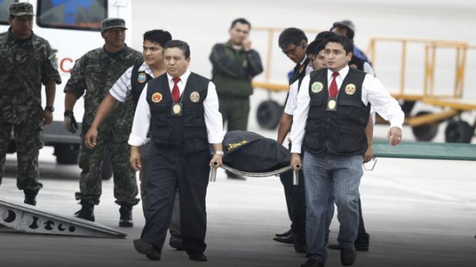 Cadáveres de terroristas y armas incautadas llegaron a Lima - 1