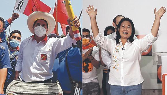 Pedro Castillo y Keiko Fujimori. (Foto: Difusión)