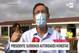 Vizcarra critica a Congreso y se pronuncia sobre la inmunidad parlamentaria