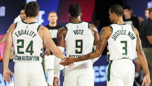 Milwaukee Bucks boicoteó su juego ante Orlando Magic como protesta contra el racismo y la NBA suspendió toda la jornada. (Foto: Milwaukee Bucks)
