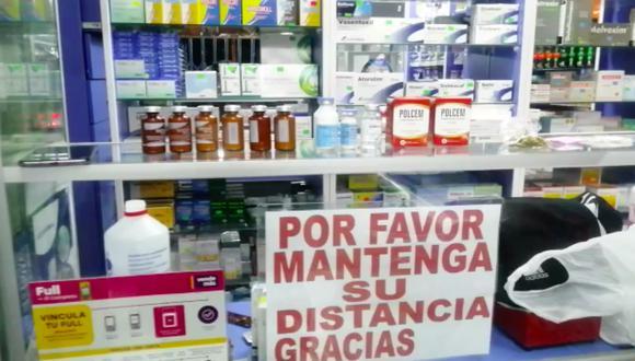 El local, de nombre Farmamedic, quedaba en las inmediaciones del Hospital María Auxiliadora que atiende a cientos de pacientes con COVID-19 y sospechosos en los distritos al sur de Lima. (Foto: PNP)