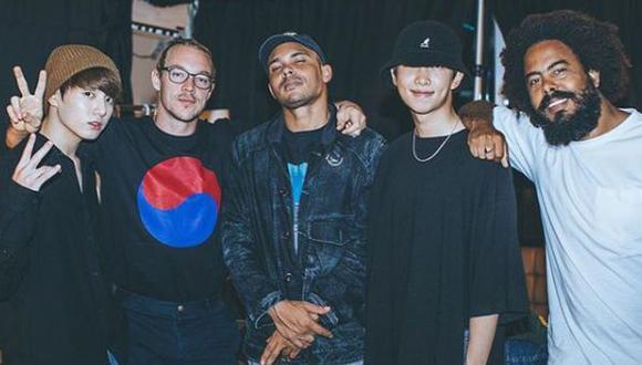 Rap Monster, Major Leazer y Jungkook en Corea del Sur. (Foto: Instagram)