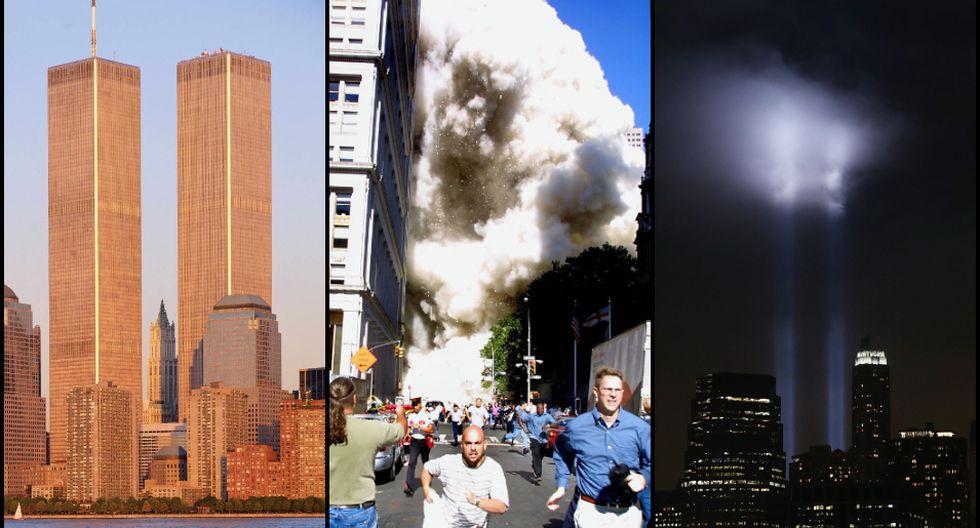 La belleza de las Torres Gemelas: los gifs del antes y el después del 9 de setiembre. Fotos: AFP