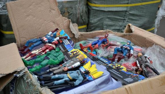 Sunat decomisó 12 toneladas de juguetes de contrabando