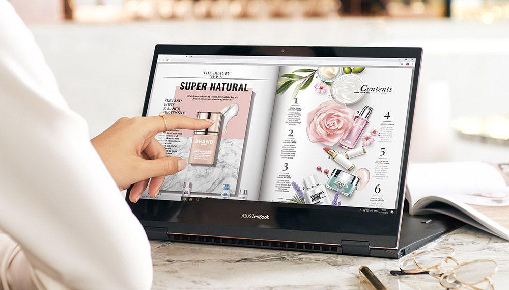 La Asus Zenbook Flip S UX371 es una laptop 2 en 1 y puede girar la pantalla. (Imagen: Asus)