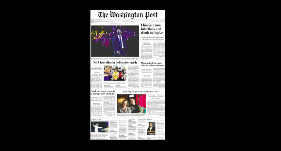 La portada de The Washington Post. (Foto: Difusión)