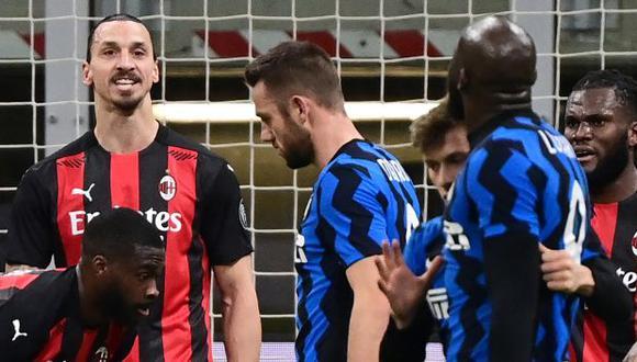 Lukaku e Ibrahimovic protagonizaron un tenso cruce en choque por la Copa Italia. (Foto: AFP)