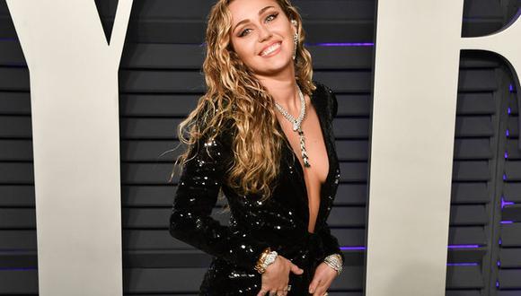 Cyrus en el Vanity Fair Oscar Party el último 24 de febrero. (Foto: Getty Images).