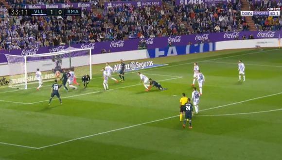 Real Madrid encontró el empate parcial contra Valladolid por un descuido de la defensa local, que fue aprovechado por Raphael Varane