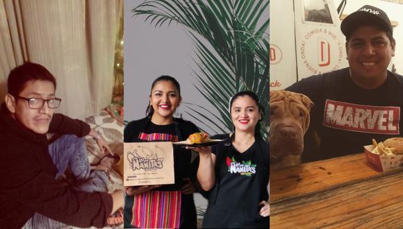 """Alan Rodríguez, Mishel y Cynthia Vela, y Juan Carlos Donoso; los rostros detrás de """"Don Rancherito"""", """"Las Ñañitas"""" y """"Donoso"""". (Fotos: Archivo personal)"""