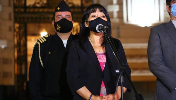 Mirtha Vásquez, presidenta del Congreso, indicó que el jueves la Junta de Portavoces definirá situación de la comisión especial del TC.  (Foto: Congreso)