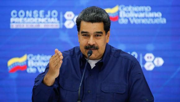 """Maduro volvió a calificar de """"show"""" y """"trampa caza bobos"""" la ayuda humanitaria donada por Estados Unidos y otros países  y subrayó que el cargamento ruso entrará """"legalmente"""" a Venezuela. (AFP)"""