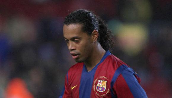 Barcelona olvidó el cumpleaños de Ronaldinho. (Foto: EFE)