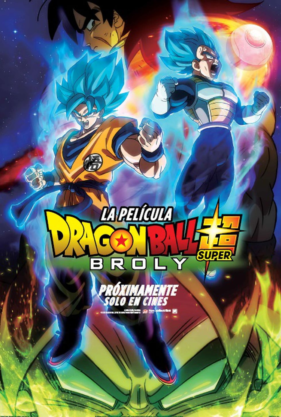 """Dragon Ball Super:  Broly"" - póster para Latinoamérica"