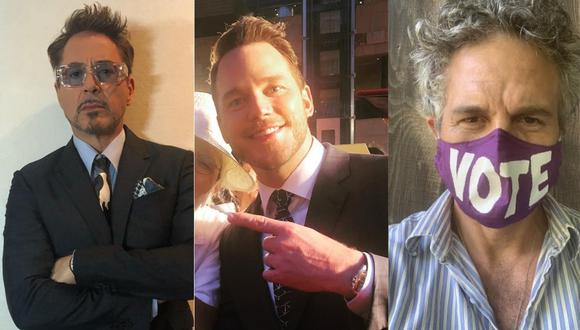 Chris Pratt: Robert Downey Jr. y Mark Ruffalo lo defienden tras ola de críticas por no acudir a evento. (Foto: @robertdowneyjr/@markruffalo/@prattprattpratt)