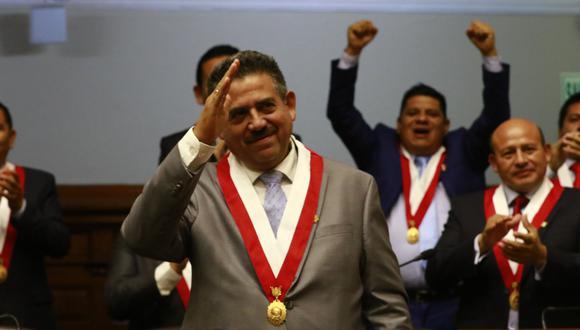 Merino de Lama ha sido elegido tres veces parlamentario. Esta es la primera vez que el acciopopulista que dirigirá el Congreso. (Foto: Congreso)