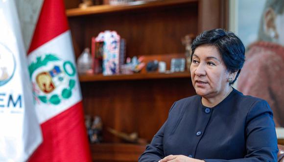 Susana Vilca Achata fue ministra de Energía y Minas desde el 13 de febrero hasta el 15 de julio del 2020. (Foto: Minem)