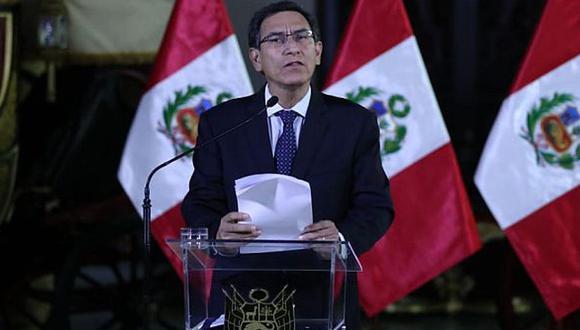 El 30 de setiembre del 2019, el presidente Martín Vizcarra anunció la disolución del Congreso de la República (Foto: Archivo).