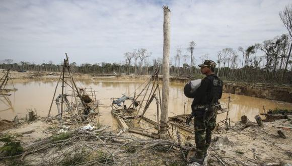 Campamentos de minería ilegal fueron destruidos en Amazonas