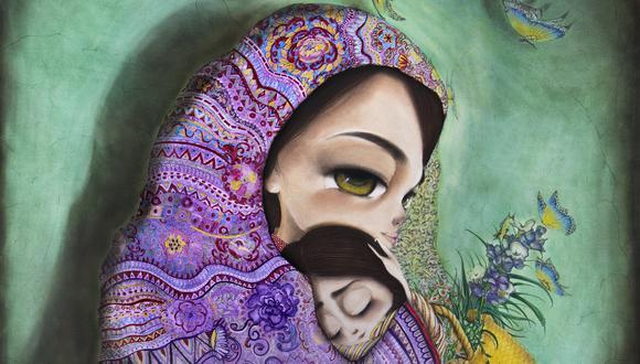 MAMITA LINDA. Este cuadro se llama Amanecer en mayo. Puede adquirirse como lienzo o grabado en www.joanalfaroart.com.