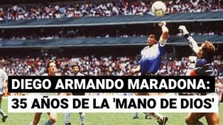 Se cumplen 35 años del 'Gol del Siglo' de Maradona a los ingleses