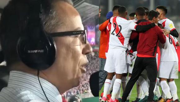 Daniel Peredo narrando los segundos finales del Perú vs. Colombia (Captura: YouTube/CM-Foto: Agencias)