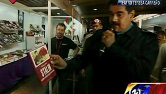 """""""El camarada Stalin, que venció a Hitler"""", afirmó Maduro. (Foto: Twitter)"""