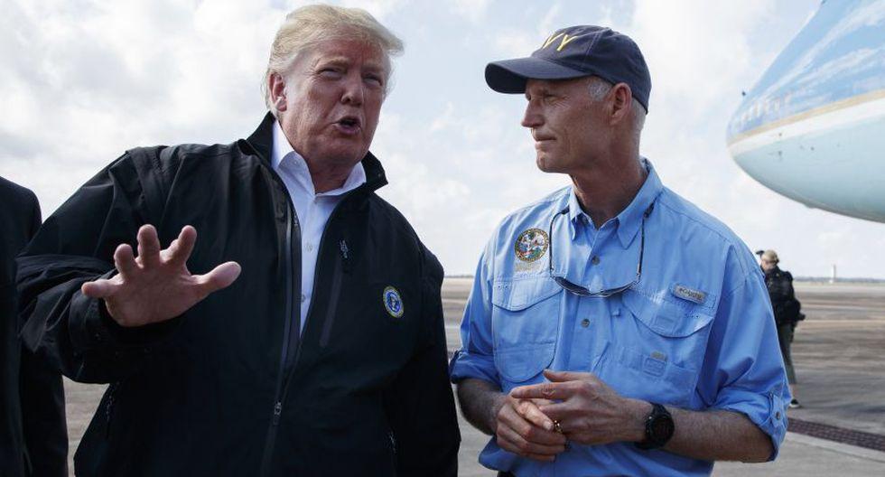 Donald Trump visita Florida, devastada por el mortal huracán Michael. (AP)