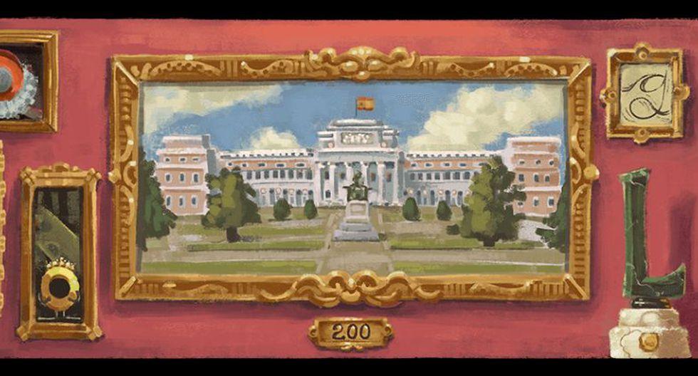 El Museo del Prado, inaugurado este día en 1819, alberga miles de pinturas españolas del siglo XII al siglo XX. Hoy Google lo homenajea con un doodle. (Google)