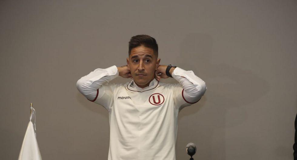 Alejandro Hohberg fue presentado por Universitario de Deportes en un hotel de la capital. | Foto: Renzo Salazar / GEC