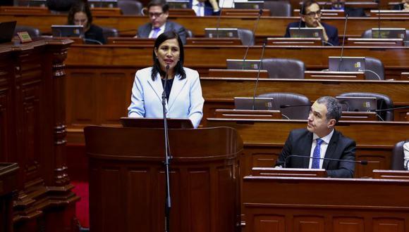 Flor Pablo será la tercera ministra de Educación en ser interpelada por el actual Congreso por iniciativa de Fuerza Popular. (Foto: Congreso)