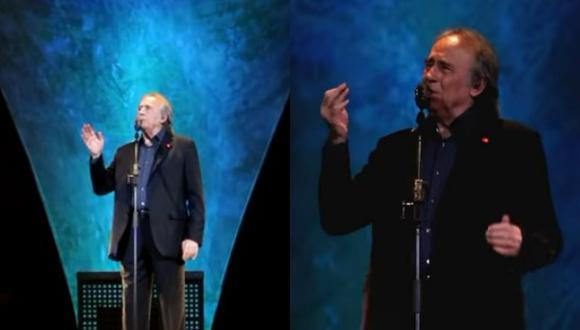 Joan Manuel Serrat durante el concierto en Barcelona.