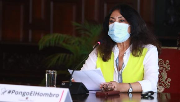 La primera ministra, Violeta Bermúdez, anunció que desde este martes comienza la vacunación de personas con Síndrome de Down. (Foto: PCM)